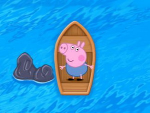 Piggy Looking For The Sea Road