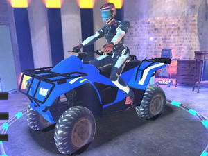 Quad Atv Traffic Racer