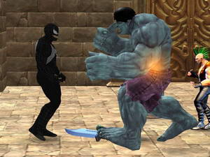 Venom Hero Street Fighting